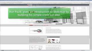 Sketchup Getting Started: Designing A Cross Cut Sled