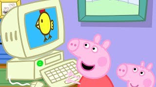 Свинка Пеппа на русском все серии подряд | Компьютер дедушки Свина | Мультики