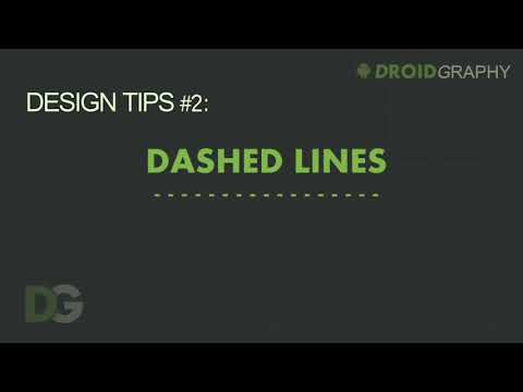 Dashed Lines In Android Layout - DroidGraphy Design Tips #2