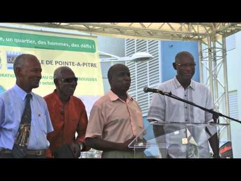 Inauguration au quartier Darboussier à Pointe-à-Pitre