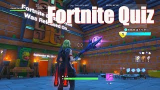 How to complete the Fortnite quiz! In Fortnite Creative