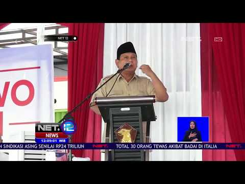 Warga Boyolali Protes Pidato Prabowo- NET 12