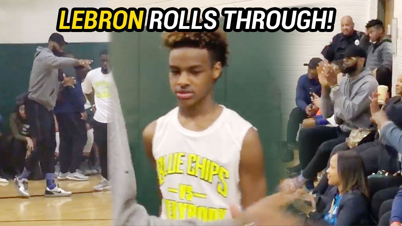 new styles 09076 e122d LeBron James Goes COACH BRON At Bronny James  Game! Shows Love To Team  After BIG WIN 🔥