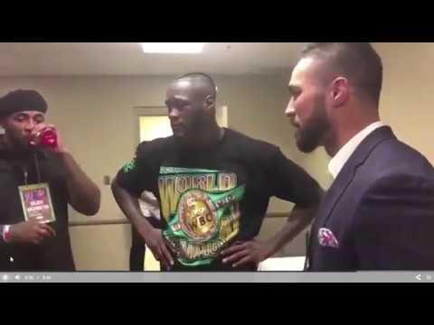 Watch  Joseph Parker meets Deontay Wilder after callout