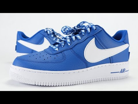 Nike Air Force Low Nba Statement Game Royal Review On Feet