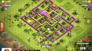 Clash of Clans awesome archers/giants raid! 200K loot!