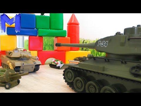 Танк Т-34 против злодеев ( Видео про танки для детей )