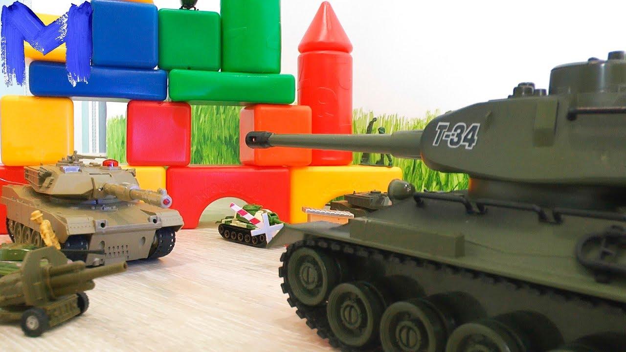 Он просто Монстр! Танк Т-34 против злодеев - Видео про танки для детей