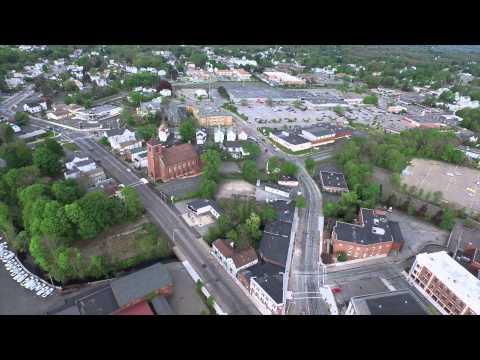 DownTown Taunton, Massachusetts via Dji Inspire 1 Drone