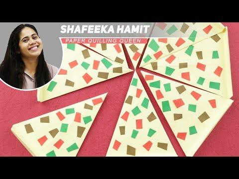Origami PIZZA (Make paper pizza slices)