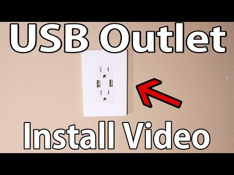 How to install USB wall outlet - YouTube