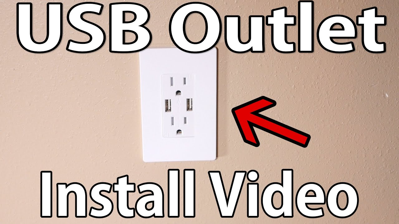 how to install usb wall outlet [ 1280 x 720 Pixel ]