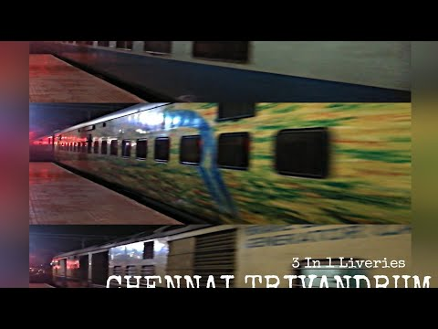 Chennai Trivandrum Super AC Express| 22207| Coimbatore Jn| rVeez47| WAP7