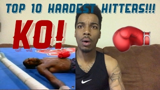 TOP 10 HARDEST PUNCHERS IN BOXING HISTORY REACTION!!