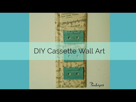 DIY Cassette Wall Art