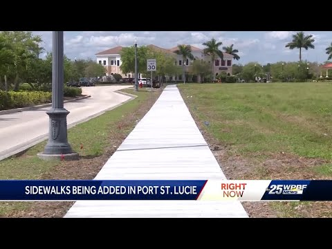 Port St. Lucie take steps to provide sidewalks