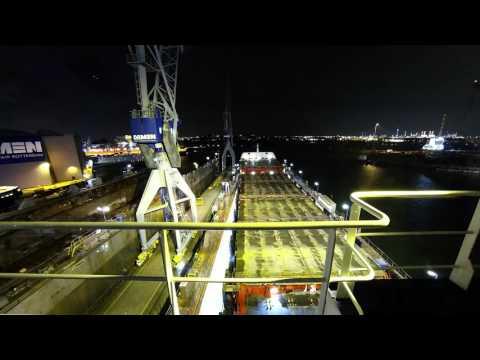 Arrival Damen Ship Repair Rotterdam