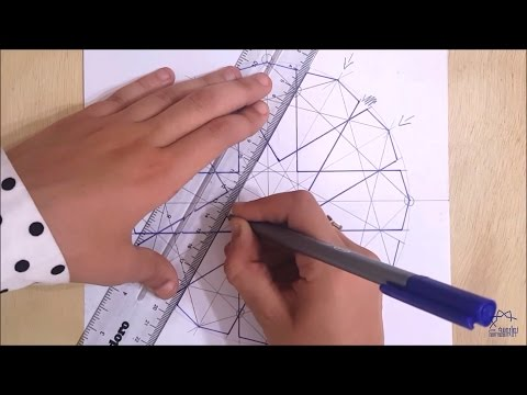 How to draw an Islamic geometric pattern #3 | زخارف اسلامية هندسية