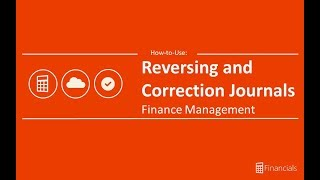How to use Reversing and Correction Journals
