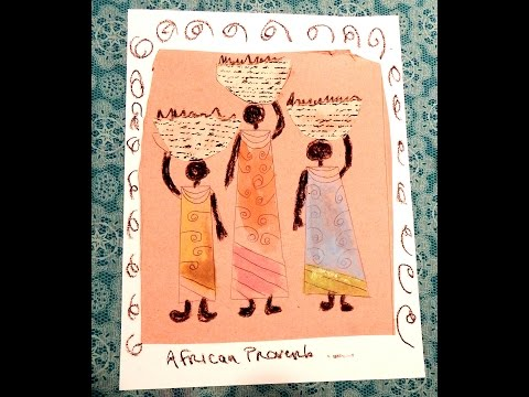 Joseys Art School Episode #101 African Line Drawing Art Lesson for Kids