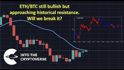 ETH/BTC approaching historical resistance