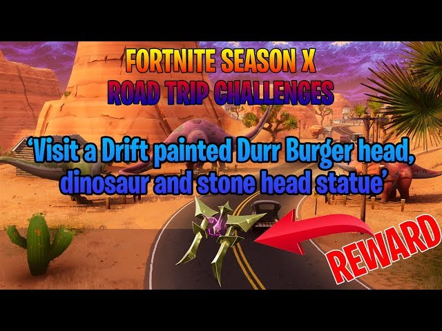 Fortnite How To Complete Road Trip Painted Durr Burger