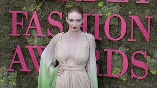 Lady Victoria Hervey and Larsen Thompson on the red carpet for the Green Carpet Fashion Awards in Mi