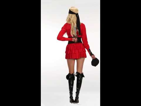 Red Hot Pirate Wench Adult Womens Costume