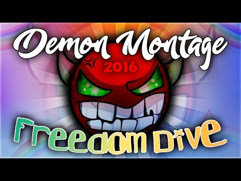 """FREEDOM DiVE"" (DEMON MONTAGE) - Geometry Dash 2016 | GuitarHeroStyles"