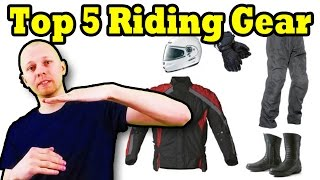 Top 5 Motorcycle Riding Gear Essentials - With Pricing