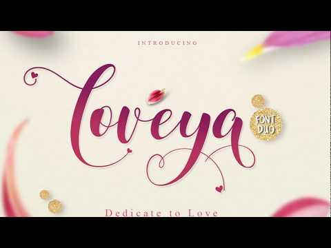 Loveya Script Preview