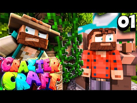 """I GOT A PANDA ALREADY!!!"" |  Minecraft Crazier Craft SMP Episode 1"