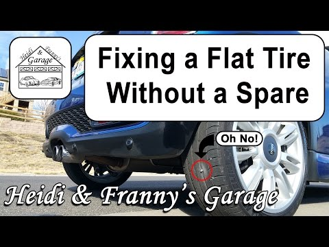 Fixing a Flat Tire Without a Spare - HOW TO DIY