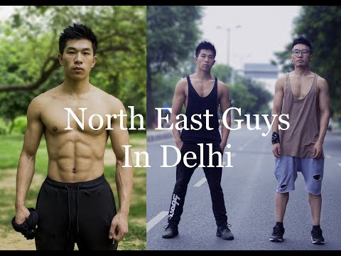 North East Guys Workout at the Park, Delhi