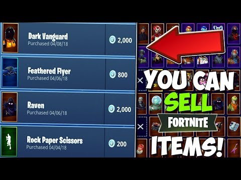 How To SELL Items/Skins In Fortnite Battle Royale For V BUCKS! | Tips & Tricks To Get Profit!