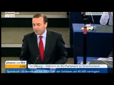 Doku: Rede von Manfred Weber (CSU), Fraktionsvorsitzender der EVP.
