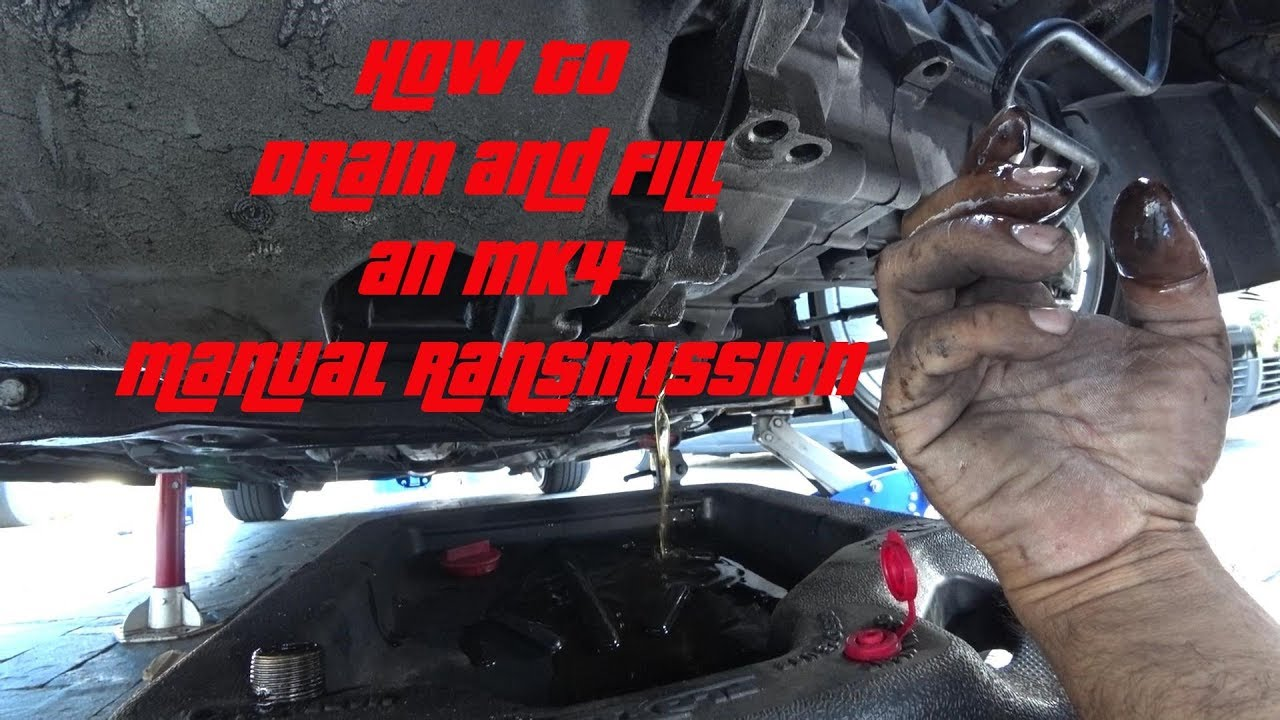 How To Drain And Fill An Mk4 Manual Transmission S4ep23 Youtube
