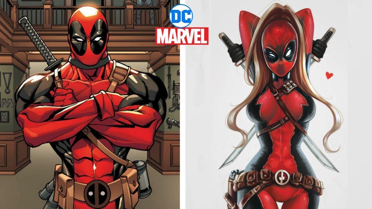 Download Marvel & Dc Characters Gender Swap Version