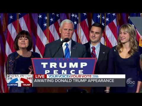 "BREAKING NEWS | Vice-President Elect Mike Pence Pence: ""This is a historic night"""