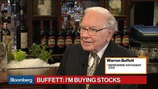 Warren Buffett Says 'I'm Buying Stocks'