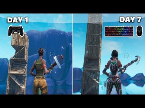 1 Week Progression PS4 To PC (Controller To Keyboard & Mouse) Fortnite Battle Royale