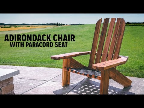 DIY Adirondack Chair With Paracord Seat