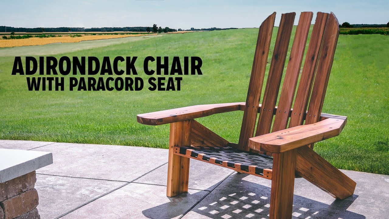 Diy Adirondack Chair With Paracord Seat Youtube