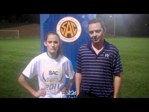 Head Coach Gary Curneen and Kelly Adams  Wingate women's soccer