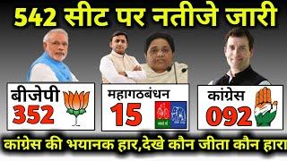 543 सीट पर रुझान परिणाम आने शुरू देखिए,जानिए किस सीट पर कौन जीत रहा है , Election Result,चुनाव परिणा