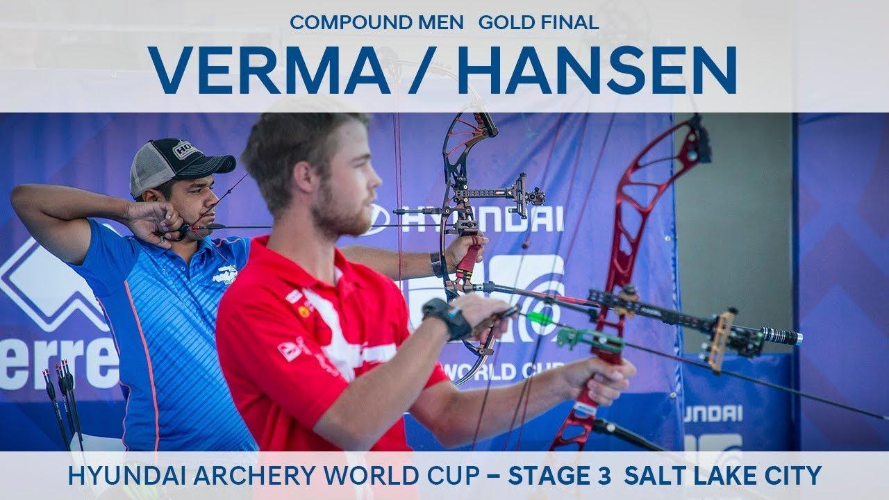 Abhishek Verma v Stephan Hansen – compound men's gold | Salt Lake 2018  Hyundai Archery World Cup S3