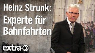 Experte für Bahnfahrten Heinz Strunk