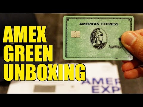UNBOXING NEW AMEX GREEN CARD (NEW Amex Trifecta)