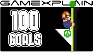 Super Mario Maker: All 100 Flagpole Animations & Music (amiibo costumes)