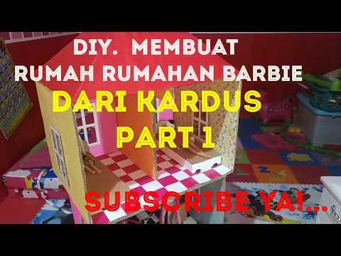 DIY,  How to make a playhouse barbie from cardboard, 「」Membuat rumah-rumahan barbie